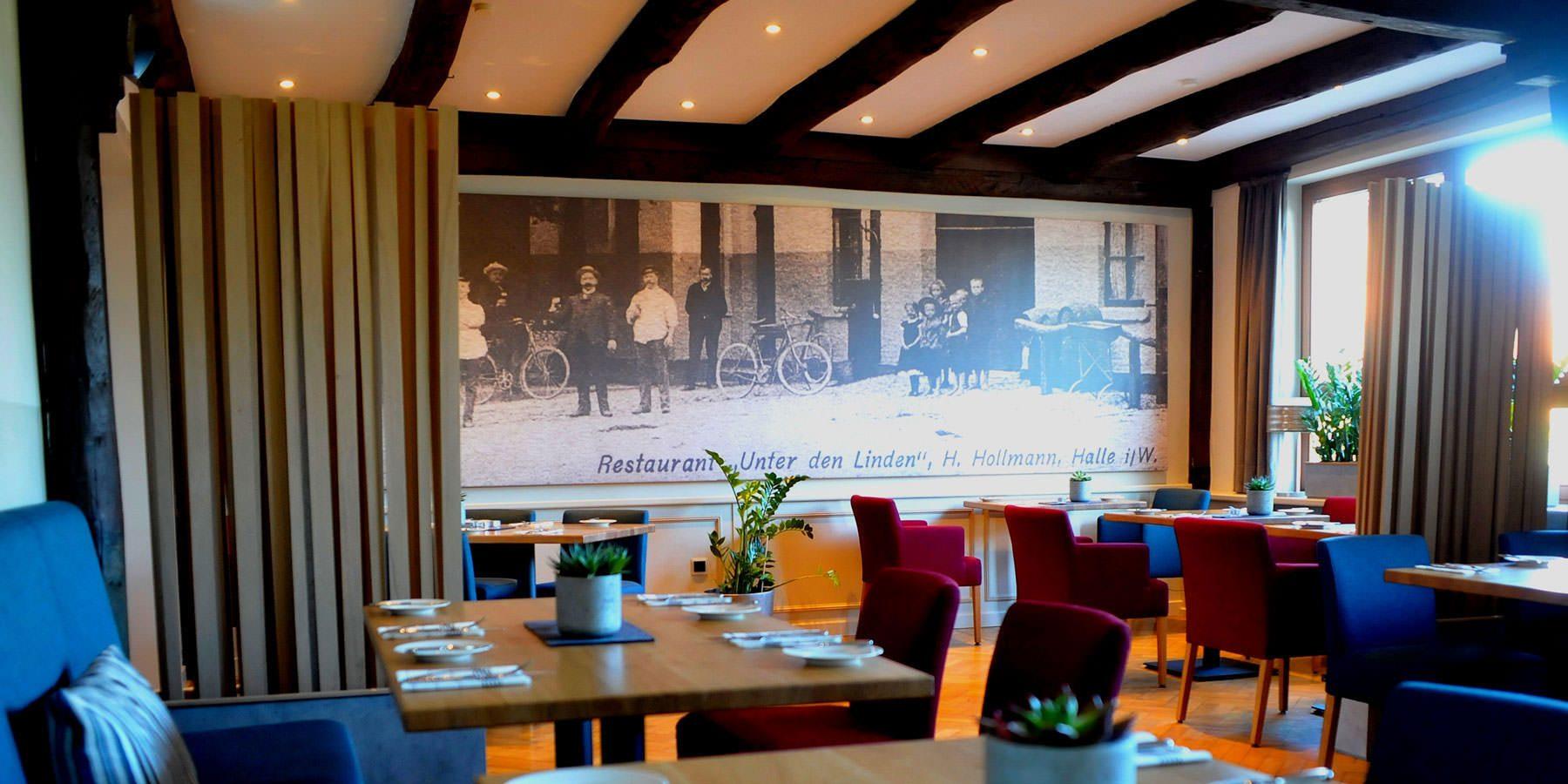 Restaurant und Hotel Hollmann in Halle Westf., Blick ins Restaurant